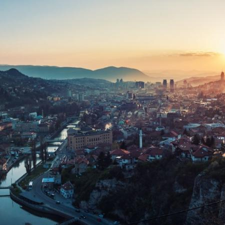 Sarajevo the beauty of Bosnia