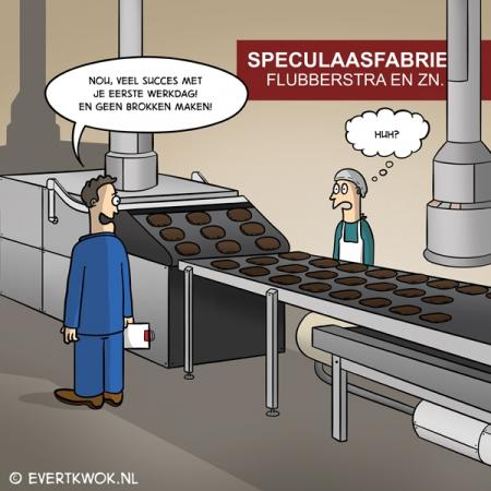 Ondertussen in de speculaasfabriek...