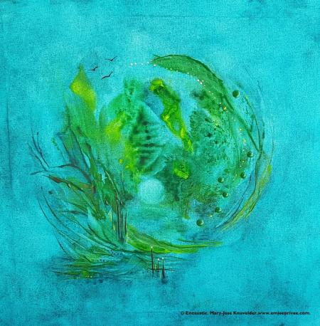 EMERALD WORLD ... Encaustic op linnen/doek