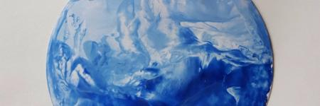 HEAVENLY EARTH - encaustic art-