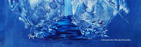 INTO BLUE ... Encausti-Art