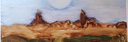 MOUNTAIN WINDS - Encaustic Art-