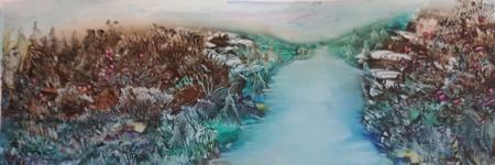 NEARBY DISTANCE      - encaustic art-
