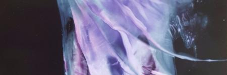 PURPLE FAIRY   - encaustic art-