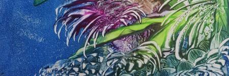 SEA FLOWER ... Encaustic-Art