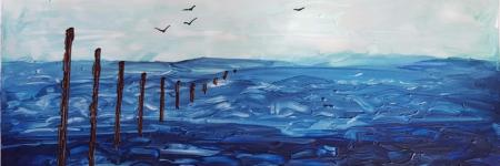SILENCE - Encaustic Art-