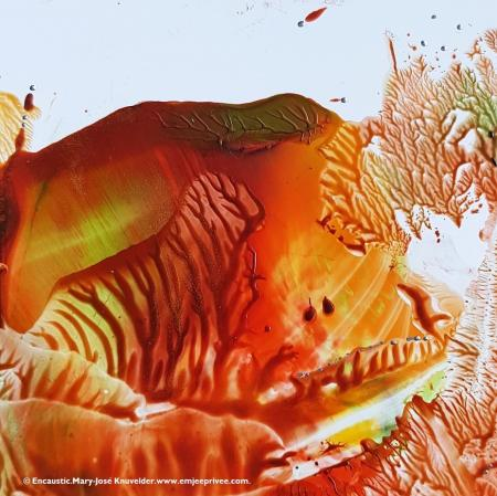 THE HIDDEN TIGER ... Encaustic.