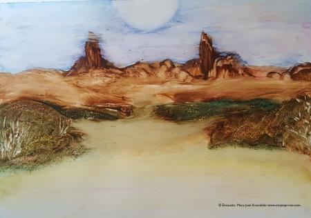 THE SISTERMOUNTAINS ... Encaustic