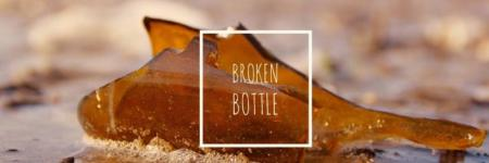 The broken bottles