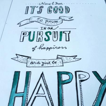 Quote Handlettering pursuit