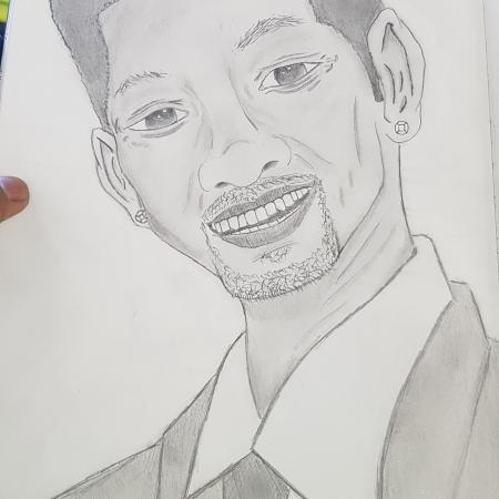 Will smith first try art portret drawing