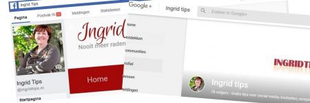 Blogartikelen delen op je eigen Facebook- en/of Google Plus pagina