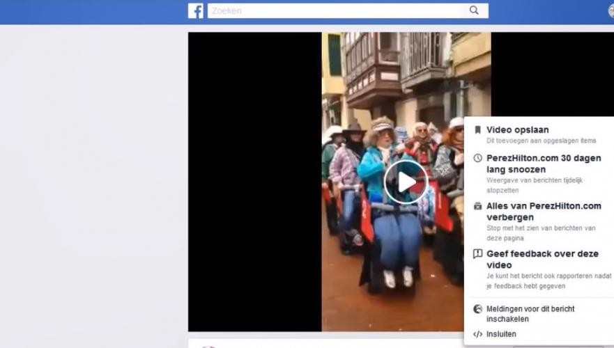 Embed Facebook video in blog article