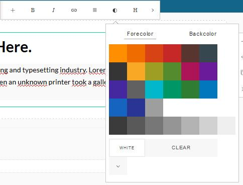 Color in your blog article (explanation with video)