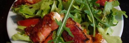 Lunchsalade met bacon en geitenkaas