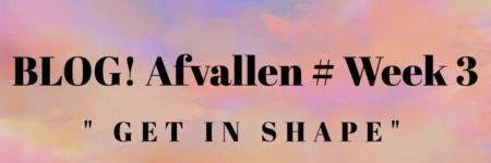 BLOG! Afvallen # Week 3 get in shape