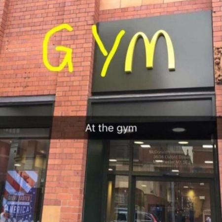 me at the gym