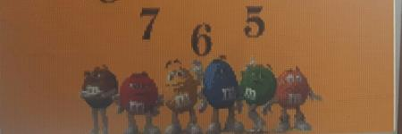 Diamond painting M&M's klok