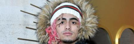Lil pump model bij gucci