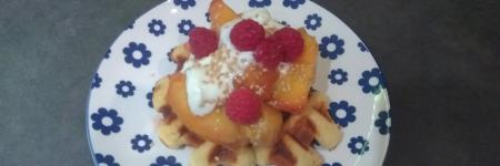 DIY wafeltjes met vers fruit