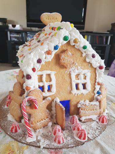 Did our not gingerbread house hold?